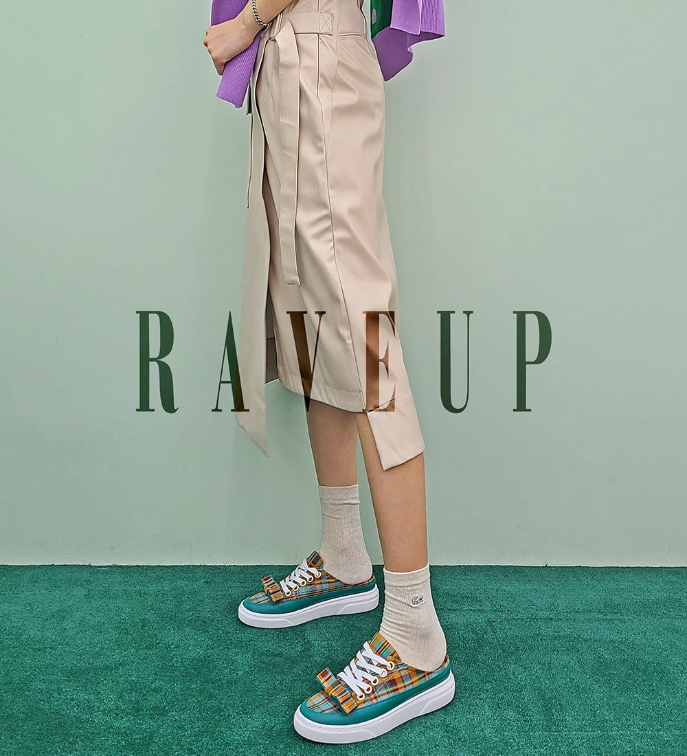 레이브업(RAVE UP) Its Adorable Mules Blue Check_0048